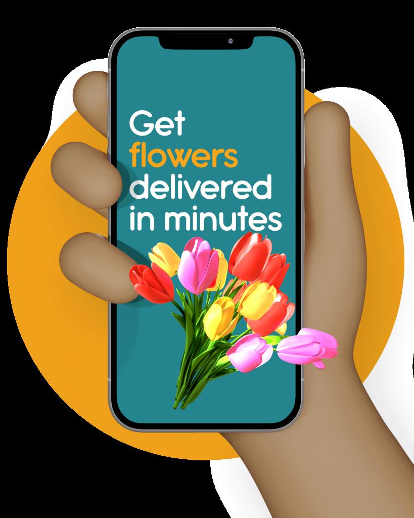 Get-flowers-delivered-in-minutes