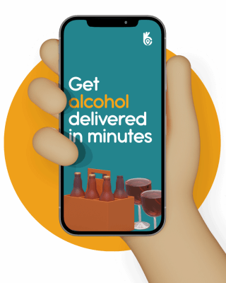 Get alcohol delivered in minutes