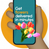 Get flowers delivered in minutes